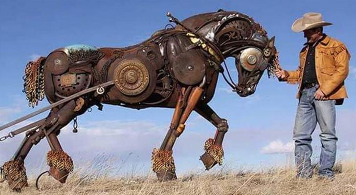 Cet artiste américain transforme d'anciens outils agricoles en d'incroyables sculptures réalistes