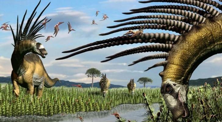 Gli studiosi portano alla luce un dinosauro che aveva una spettacolare cresta di spine