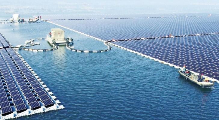 China: Eines der weltweit größten schwimmenden Solarkraftwerke entsteht aus den Ruinen einer ehemaligen Kohlengrube