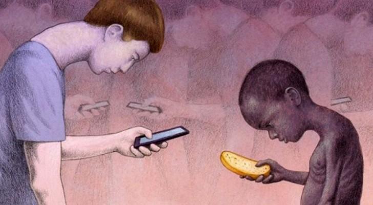 16 illustrazioni distopiche che raffigurano l'ottusità del mondo moderno