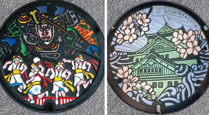 Au Japon, les plaques d'égout sont de véritables œuvres d'art : se promener dans les rues, c'est comme visiter un musée
