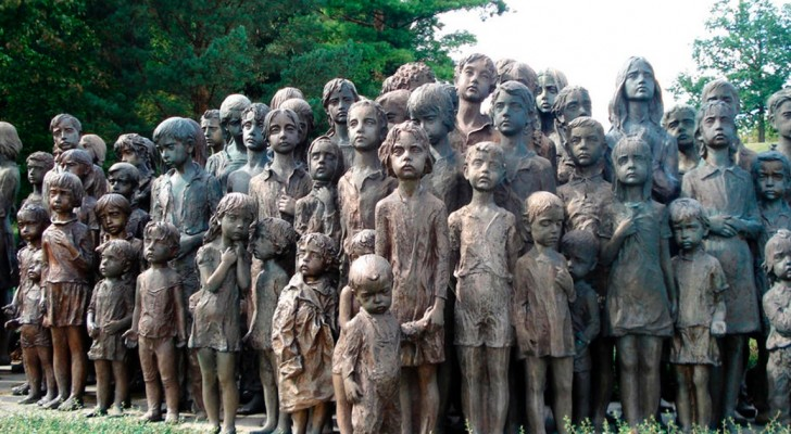 The sad story of the children of Lidice, who still touch all who gaze upon their faces ...