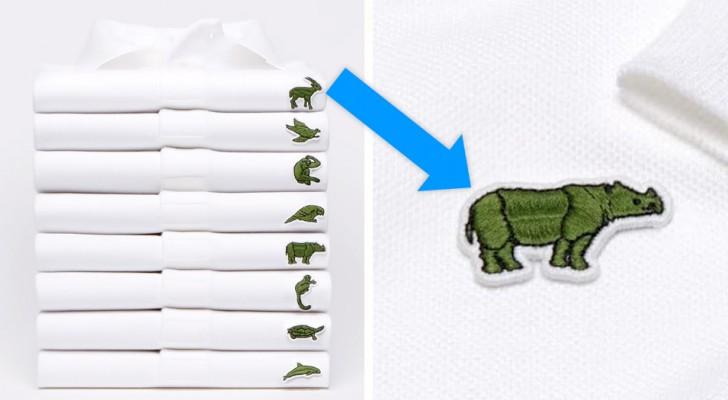 Das Lacoste-Krokodil verschwindet vorübergehend vom Polo-Shirt: stattdessen Tiere, die vom Aussterben bedroht sind