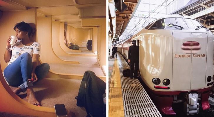 Da fuori i treni notturni giapponesi sono come tutti gli altri, ma all'interno nascondono una vera oasi di pace