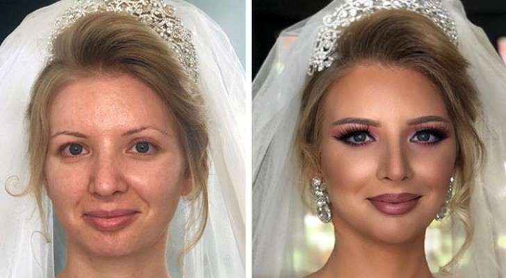 The power of makeup is shown here with these 27 brides that make-up artists have made beautiful ... and unrecognizable!