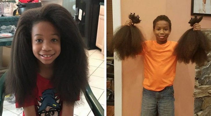 This young boy let his hair grow for two years to give it to children with cancer