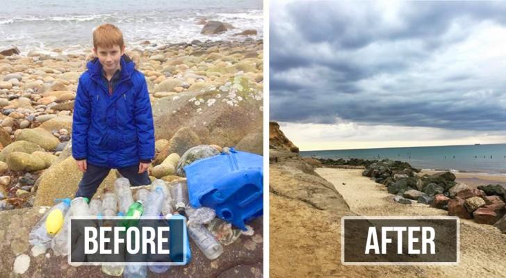 Dieses Kind geht jeden Tag an die Strände seiner Stadt, um den Müll zu beseitigen