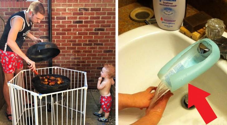 20 genialiska idéer från föräldrar som försökt förenkla livet