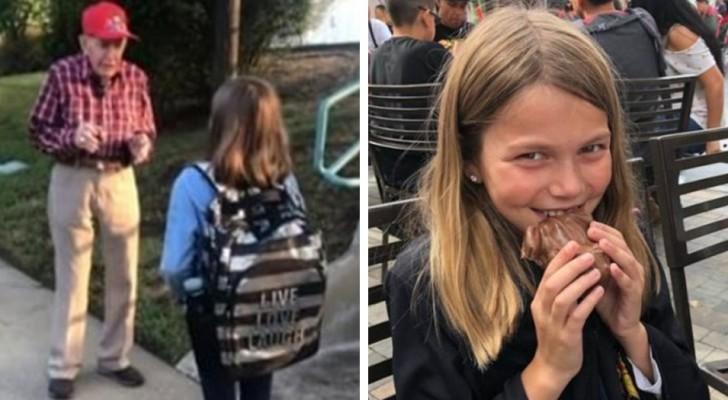 Descubre que la hija habla cada día con un hombre delante a la escuela: pero sus intenciones merecen un aplauso