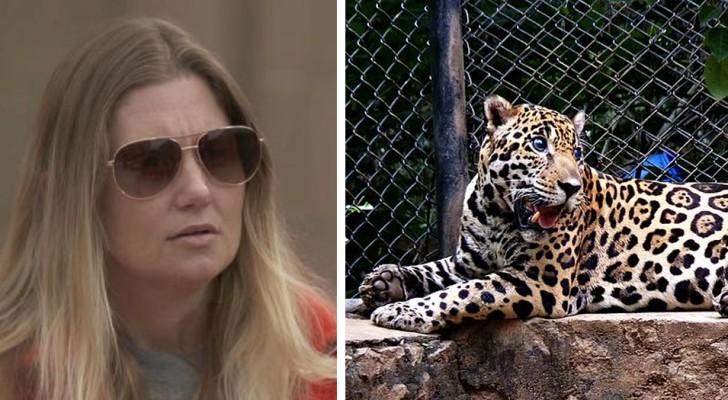 Sie wird von einem Jaguar im Zoo angegriffen, während sie versucht, ein Selfie zu schießen. Der Vorfall löst viele Kontroversen aus