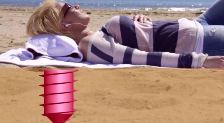 Voici comme cacher vos effets personnels sur la plage cet été ;-)