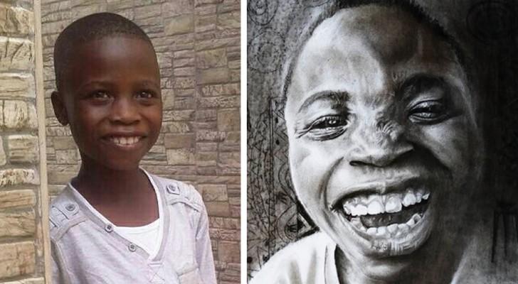 Questo ragazzo autodidatta di 11 anni realizza ritratti iperrealistici degni delle migliori gallerie d'arte