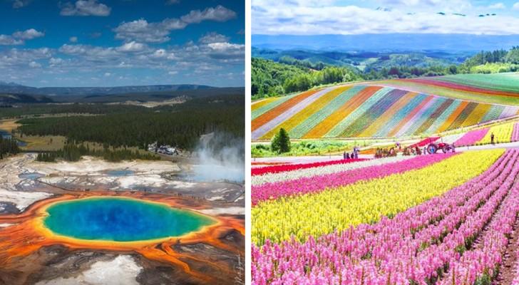 11 Orte auf der Erde, an denen Mutter Natur all ihre Farben entfalten wollte