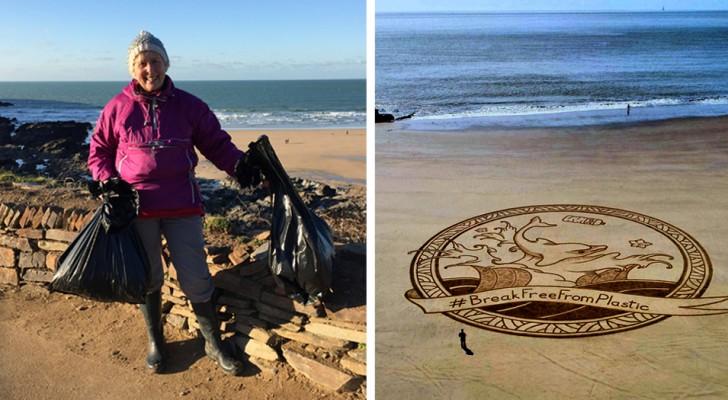 Une mamie de 70 ans nettoie 52 plages en un an et nous apprend qu'il n'est jamais trop tard pour s'activer