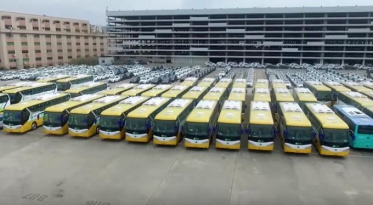 La Cina ha introdotto una flotta di autobus elettrici, che saranno il primo passo contro l'egemonia del petrolio