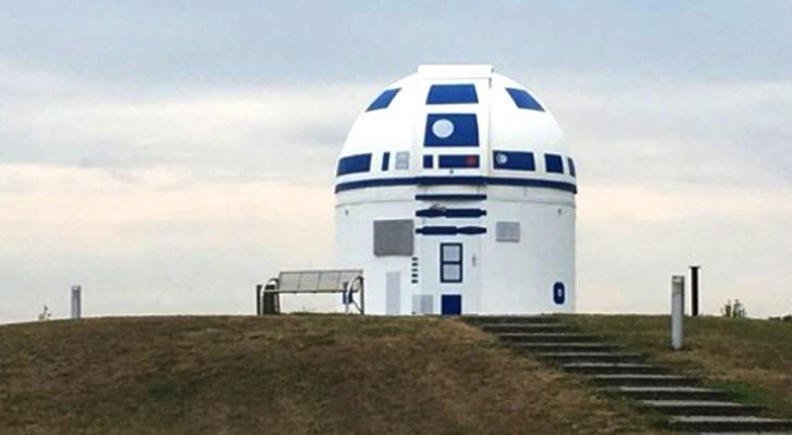 Un professeur allemand peint un observatoire comme R2-D2, le sympathique robot de Star Wars