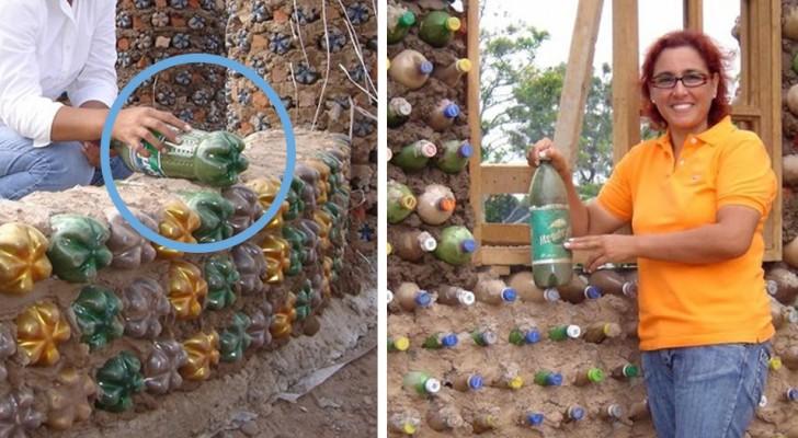 Un'ex avvocatessa costruisce case con bottiglie di plastica per le persone che non possono permettersi i mattoni