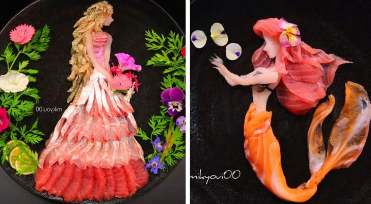 Un papa japonais crée de fabuleuses compositions de sashimi pour ses filles : le web en raffole !