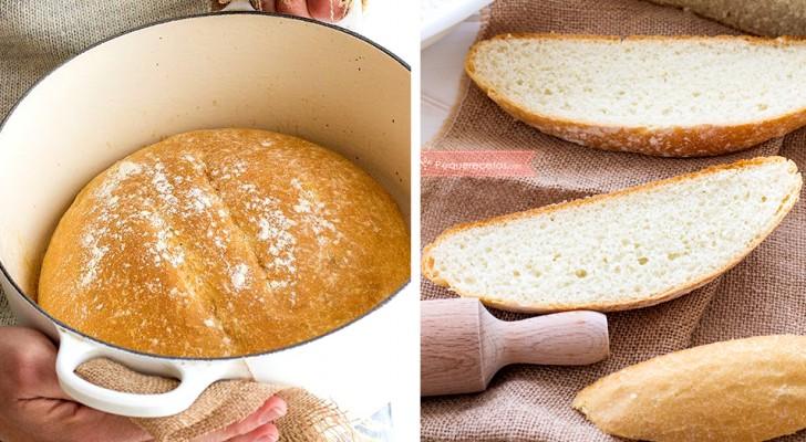 Ecco come preparare del buon pane fatto in casa: la ricetta in soli due minuti