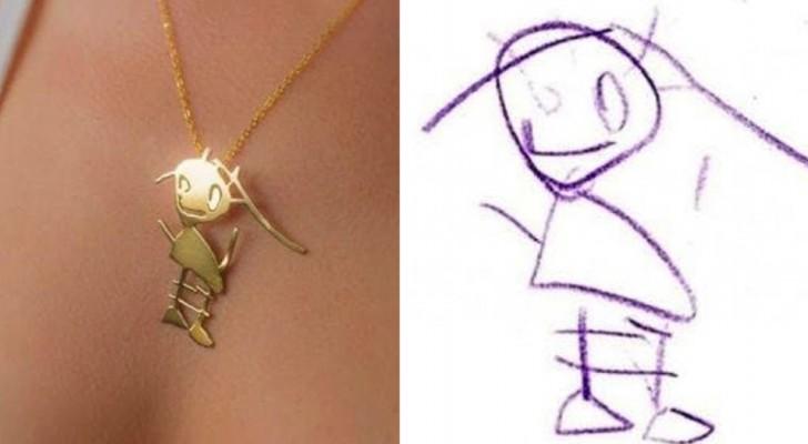 Questa azienda trasforma i disegni dei bambini in magnifici ciondoli che possono essere custoditi per sempre