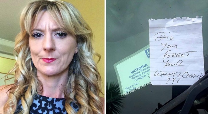 Una mujer discapacitada encuentra una nota desagradable sobre el parabrisas: miles aplauden su respuesta