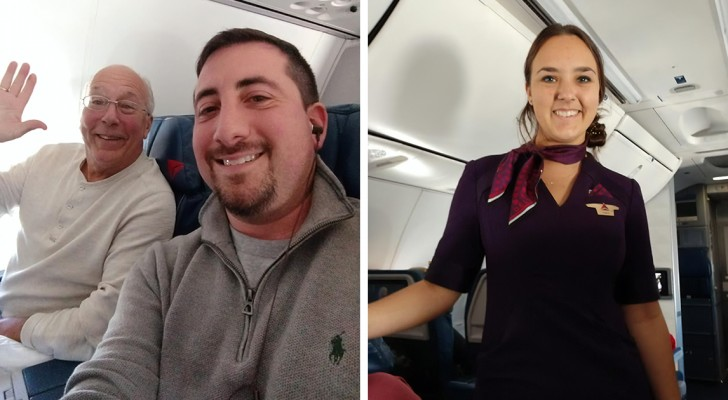 A dad books six plane tickets to spend the holidays with his daughter who is a flight attendant
