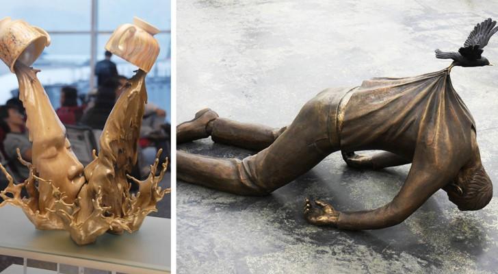 14 sculptures qui ont défié et gagné la bataille contre la force de gravité