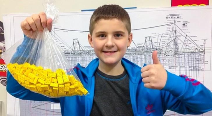 Un ragazzo autistico di 10 anni costruisce una gigantesca replica del Titanic usando i mattoncini LEGO