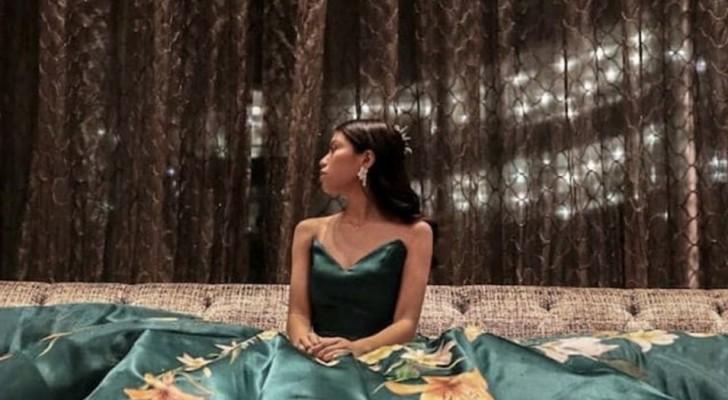 Cette fille a conçu, cousu et peint à la main sa magnifique robe pour le bal de fin d'année