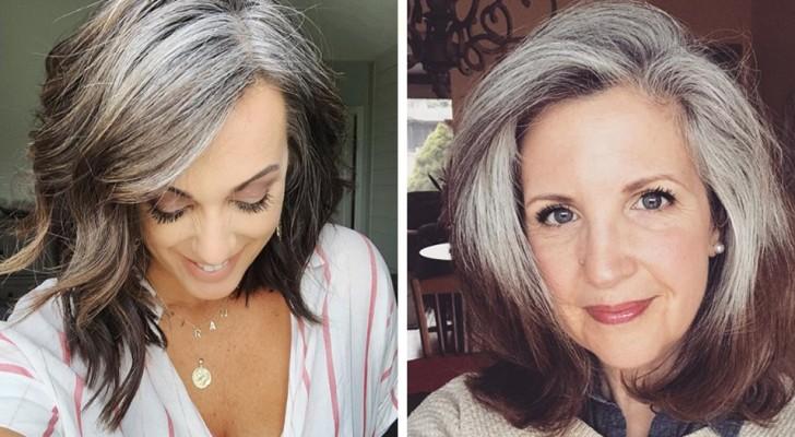 20 vrouwen die zich niet langer schamen om hun grijze haar aan de wereld te tonen