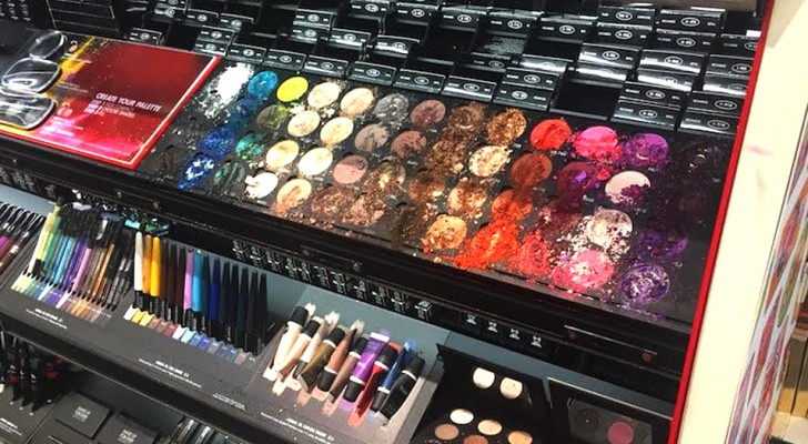 A little girl destroys over $1200 of makeup at Sephora and the salesclerks blame the
