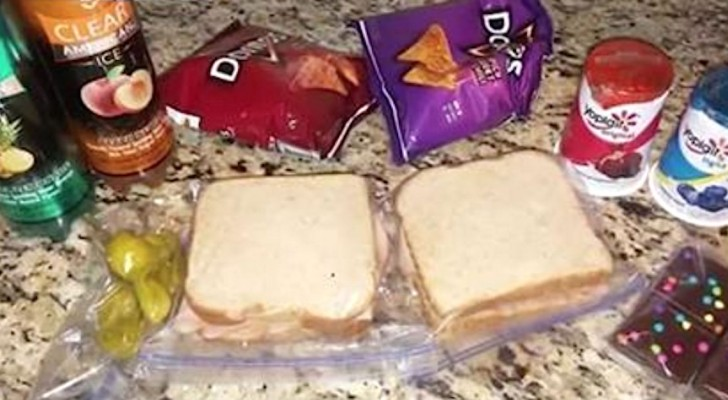 A mother wonders why her son asks her to prepare two lunches, but then she understands that one is not for him!