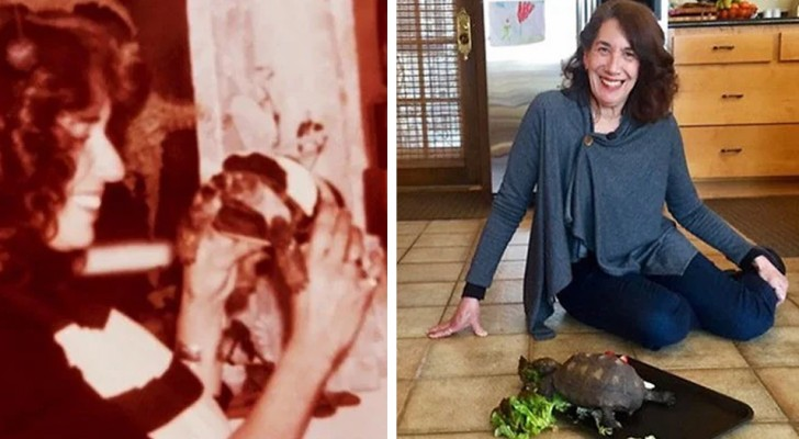 At 10 years of age, she receives a tortoise as a gift and 56 years later they are still inseparable