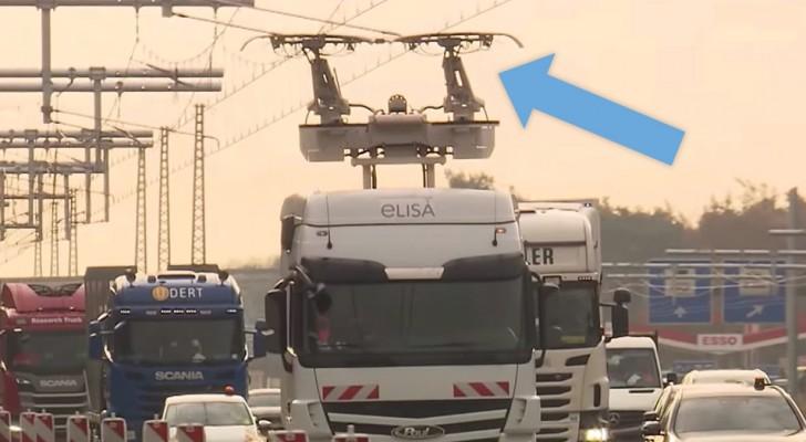 Deutschland: Eröffnung der ersten elektrischen Autobahn, die es Lkw ermöglicht, unterwegs aufzuladen
