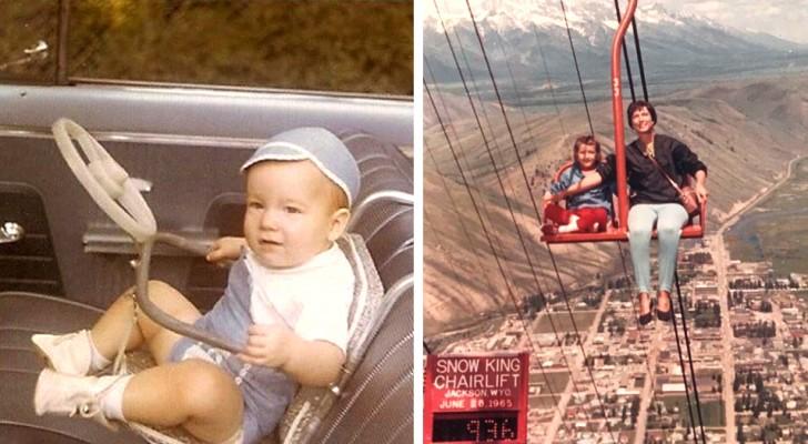 Queste foto d'epoca ci mostrano quanto sia cambiato il concetto di sicurezza dei genitori