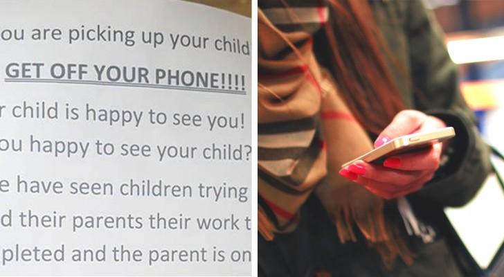 """""""Basta Smartphone, prestate attenzione ai vostri figli"""": il richiamo all'ordine di questo asilo fa il giro del mondo"""