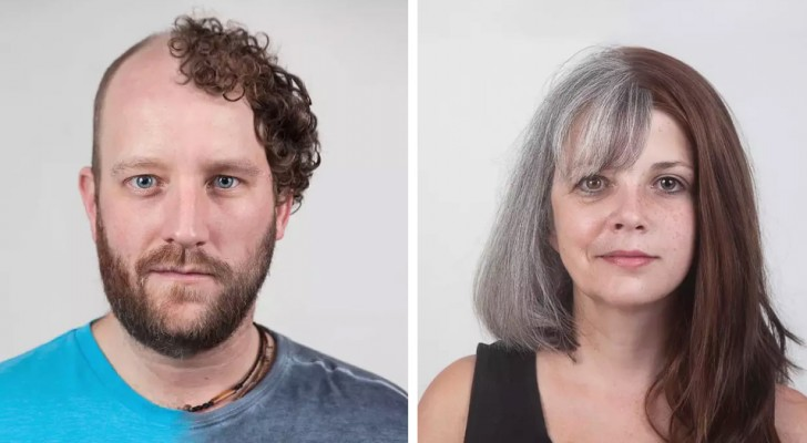 Questi ritratti fianco a fianco di membri della stessa famiglia mostrano lo stupefacente potere del DNA