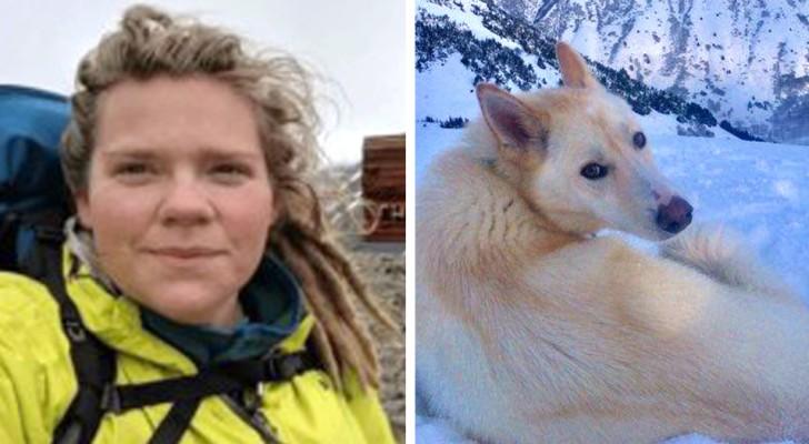 Een doof meisje raakt onder een berg gevangen, maar een dappere husky redt haar leven
