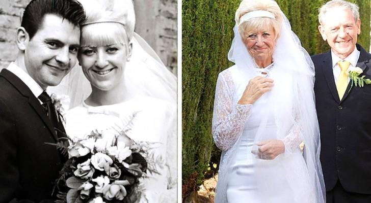 Se han casado en 1966: 50 años después se ponen sus prendas de boda...y están increíblemente perfectos