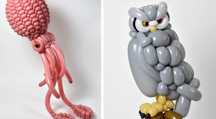 Cet artiste japonais est un magicien du ballon : voici 17 créatures aux détails étonnants