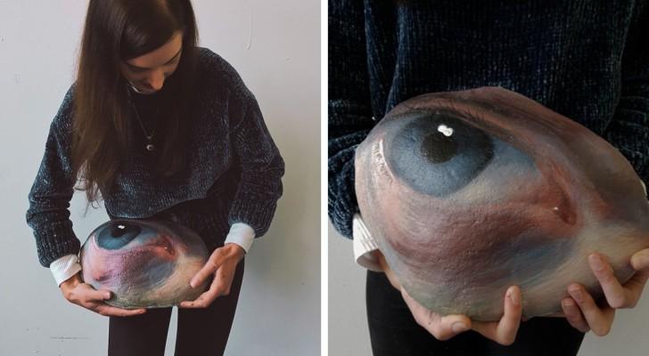 Dieses Mädchen sammelt Steine, bemalt sie mit menschlichen Augen und setzt sie dann wieder an ihren Platz, um gefunden zu werden oder für immer verloren zu gehen