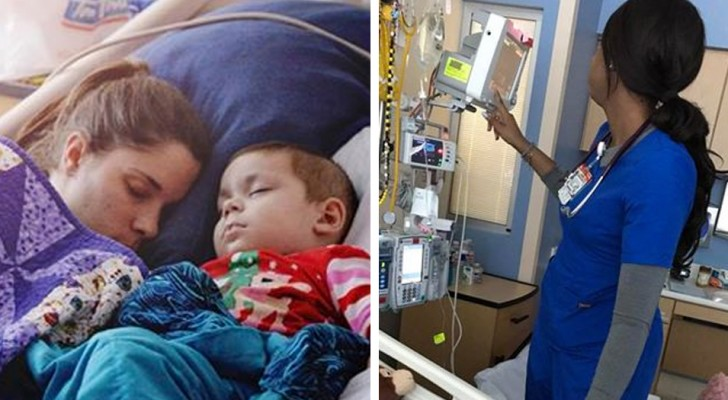 Mentre l'infermiera fa il suo lavoro, una mamma le scatta di nascosto una foto: il motivo vi farà scendere una lacrima