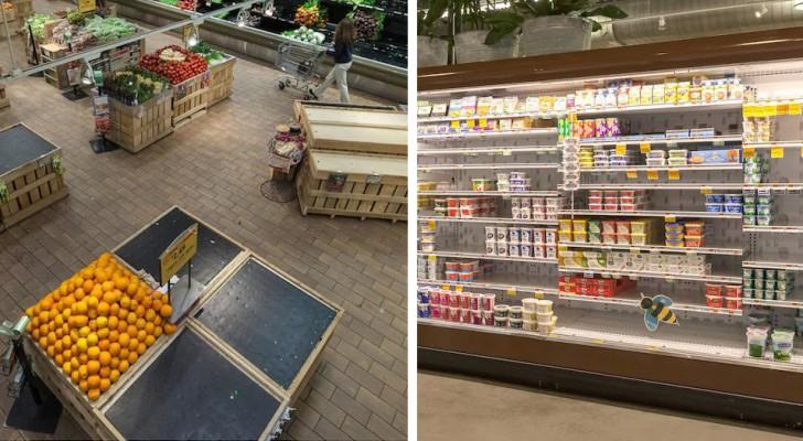 Dit is hoe supermarkten zouden zijn zonder bijen: honderden ontbrekende producten en lege schappen