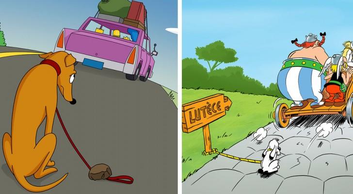 10 Illustrationen, die von berühmten Comics inspiriert wurden, um die Vernachlässigung von Hunden zu verurteilen
