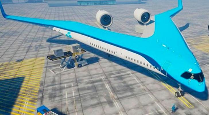 Dit V-vormige vliegtuig is ontworpen door een student en bespaart 20% op brandstof