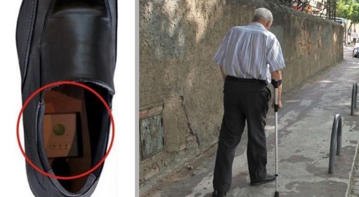 Schuhe mit GPS erfunden, um Großeltern mit Alzheimer zu verfolgen und zu verhindern, dass sie sich verlaufen.