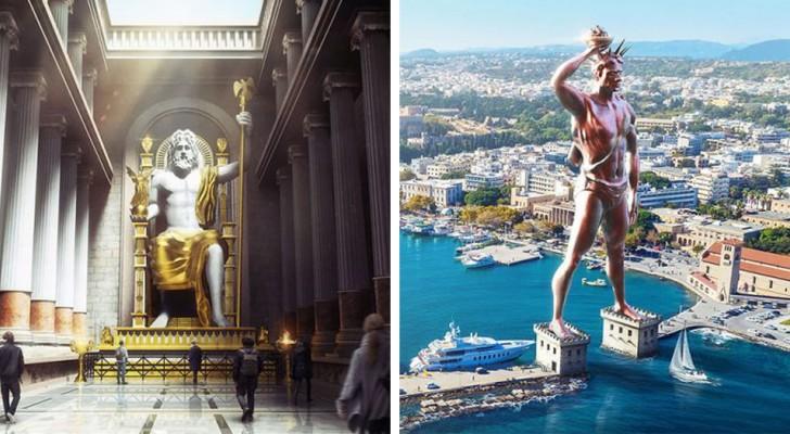 Les 7 merveilles du monde antique réintroduites dans leur contexte moderne : voici le résultat