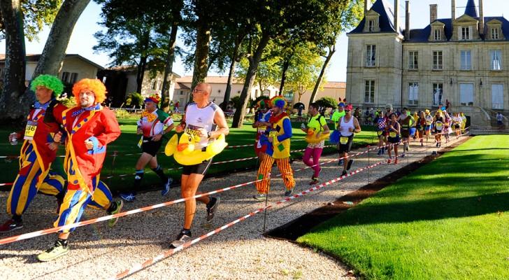 In Frankrijk is er een marathon waarin atleten kaas eten en wijn drinken