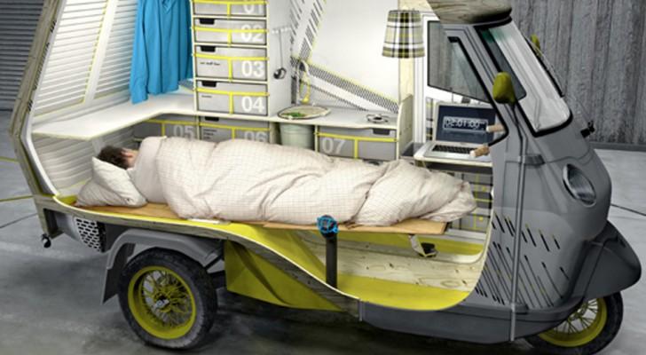 L'Ape Piaggio viene trasformato in camper per fantastici viaggi on the road: ecco a voi Bufalino