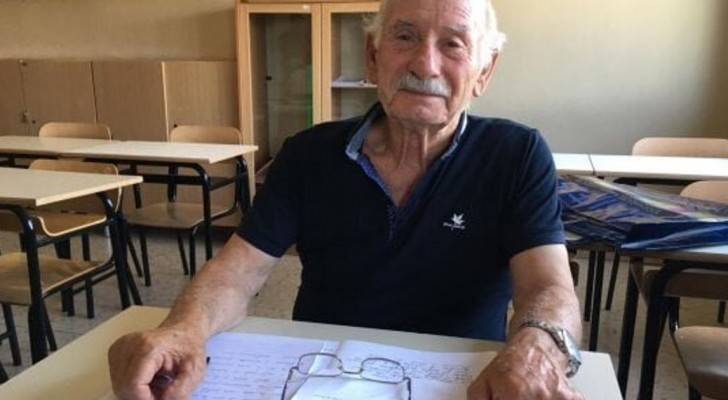 An 83-year-old grandfather decides to take the middle school exam to get his diploma! Discover why!